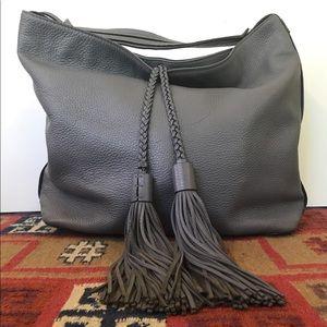 Rebecca Minkoff Gray Leather Isobel Shoulder Bag
